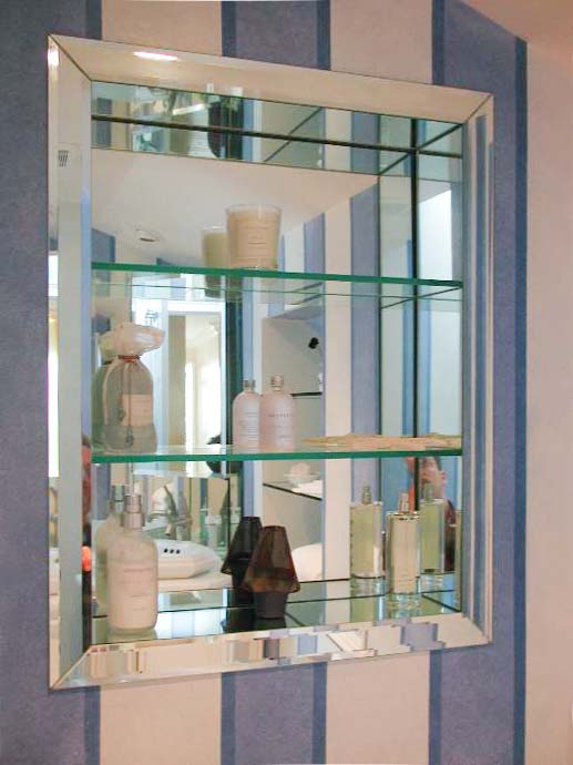 Excellent MIRRORS & SHELVES - Dimensions In Glass ZF62